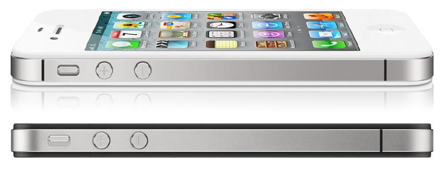 Antenna iPhone 4s (bianco) e iPhone 4 (nero): differenze